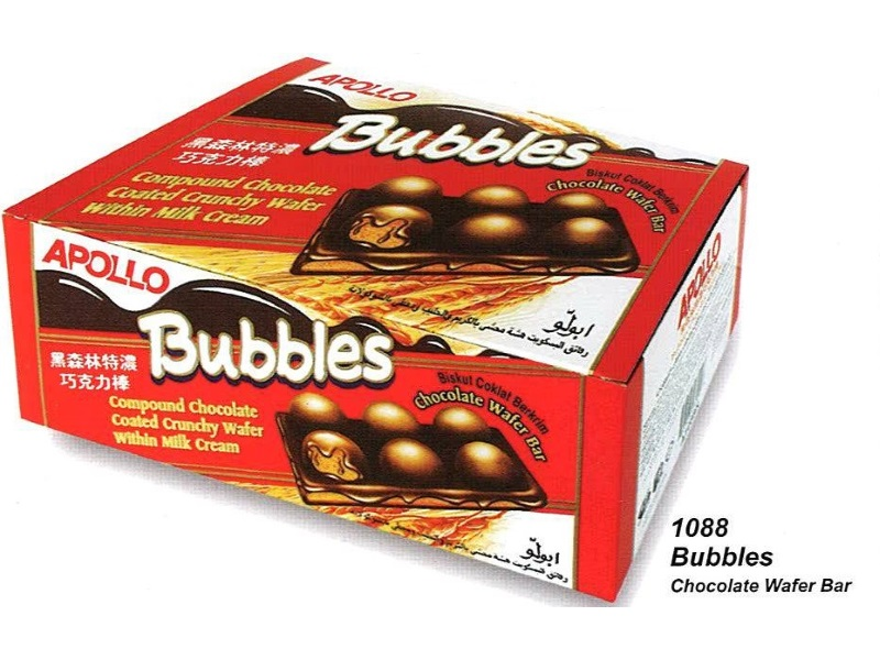 Bubbles Chocolate Wafer Bar