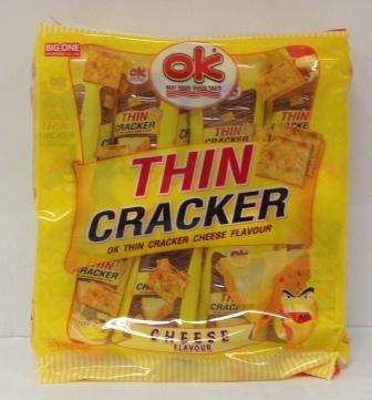 OK THIN CRACKER - CHEESE