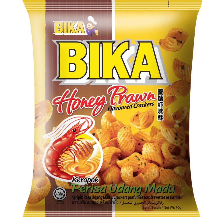 Bika Honey Prawn Crackers